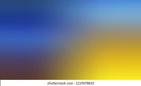 Gradient with Mariner, Blue, Galliano, Yellow color. Blank and attractive blurred background with smooth color transition. Template with changing shades and with space for text.