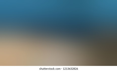 Gradient with Matisse Blue Heathered Gray Pale Taupe color. Modern texture background, degrading fragments, smooth shape transition and changing shade.