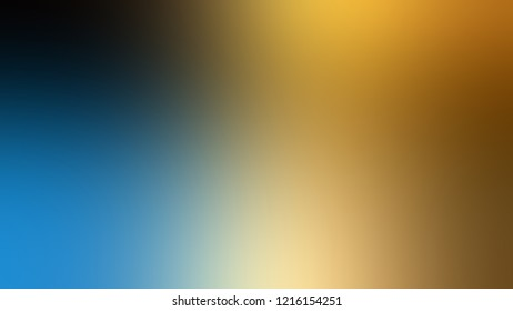 Gradient with Matisse, Blue, Hot Toddy, Brown color. Modern defocused background as a work of art.