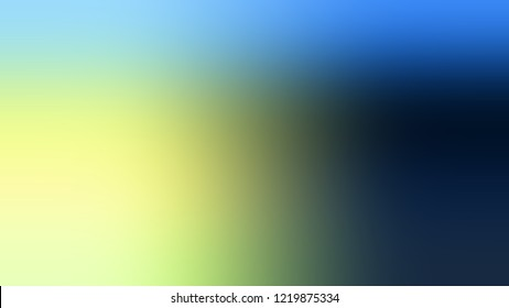 Gradient with Matisse, Blue, Jonquil, Yellow color. Defocused background with smooth color transition for mobile app. Template with changing shades and with place for text.