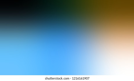 Gradient with Matisse, Blue, Maya color. Simple and modern blurred background with the deterioration of the color for your ad.