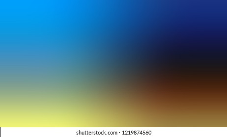 Gradient with Matisse, Blue, McKenzie, Brown color. Clean simple blurred background for banner or presentation. Template with changing shades and with place for text.