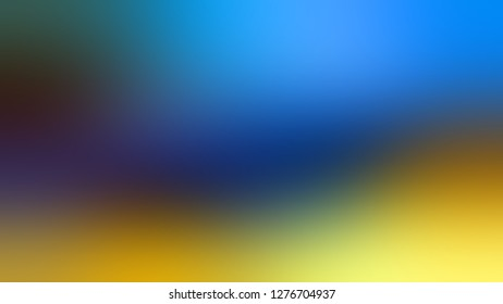 Gradient with Matisse, Blue, Reef Gold, Green color. Calm and awesome blurred backdrop with smooth color degradation. Template with blank space for text material.