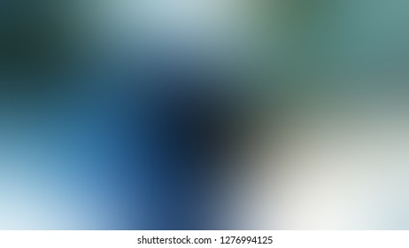 Gradient with Matisse, Blue, Tower Grey, Green color. Ambiguous and foggy blurred background with colorful shades. Mock-up with blank space for text and advertising.