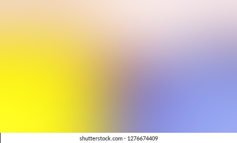 Gradient with Maverick, Violet, Gorse, Yellow color. Beautiful raster blurred background with smooth color degradation. Screen template for software.