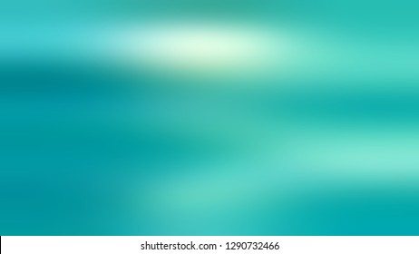 Gradient with Medium Turquoise, Blue, Persian Green color. Blended abstract background with shades degradation. Modern template for advertising banner. Volume effect with horizontal stripes.