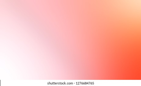 Gradient with Melon, Pink, Bittersweet, Orange color. Very simple and modern blank background. The basis for creating a banner or cover.
