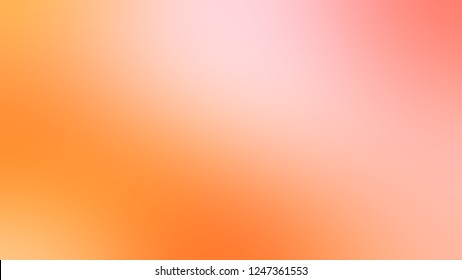 Gradient with Melon, Pink, Sunshade, Orange color. Attractive and mystical background with color degradation. Model of blurred backdrop for banner or business presentation.