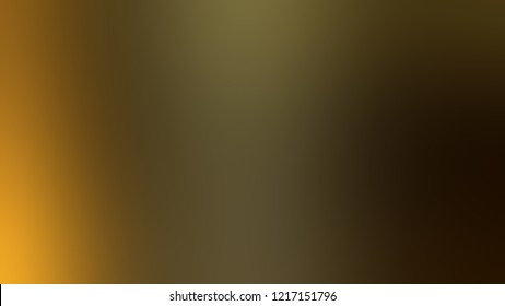 Gradient with Mikado, Brown, Afghan Tan, Yellow color. Modern blurred background as a artwork.