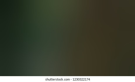 Gradient with Mikado, Brown, Black Forest, Green color. A simple defocused backdrop for ads or commercials. Template with changing shades and with place for text.