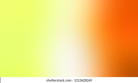 Gradient with Milan Yellow Mango Tango Orange Sunshade color. Modern texture background, degrading fragments, smooth shape transition and changing shade.