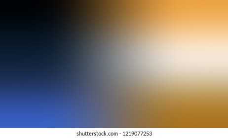 Gradient with Mobster, Violet, Mandalay, Yellow color. Blank and attractive blurred background with smooth color transition. Template with changing shades and with space for text.