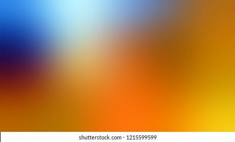 Gradient with Ochre, Orange, Blue, Brown, Sisal color. Awesome and simple defocused and blurred backdrop with the transition colors for advertising.