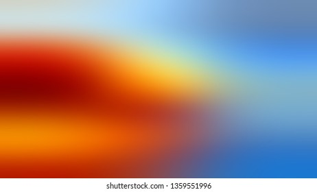 Gradient with Orange, Blue, Silver color. Calm and awesome blurred background without focus. The basis for creating a banner or cover.