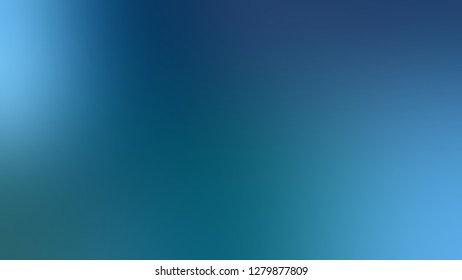 Gradient with Orient, Blue, Curious color. Simplicity and purity. Blurred background with defocused image. Template for web page or site.