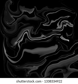 Gradient pattern background,decorative series with paint brush,composition with black and white.Creative with illustration progress,with swirled or curve of oil paint,marble texture.Abstract design.