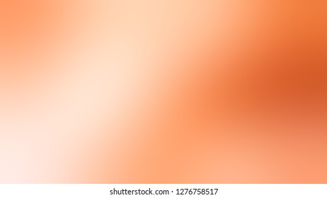Gradient with Peach Puff, Orange, Macaroni And Cheese color. Simplicity and purity. Blurred background without focus. Template for banner or document.