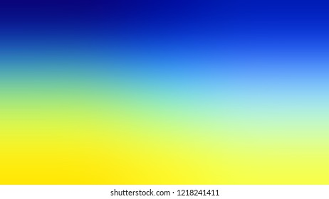 Gradient with Persian Blue, Gorse, Yellow color. Blank defocused background with smooth color transition for mobile app.