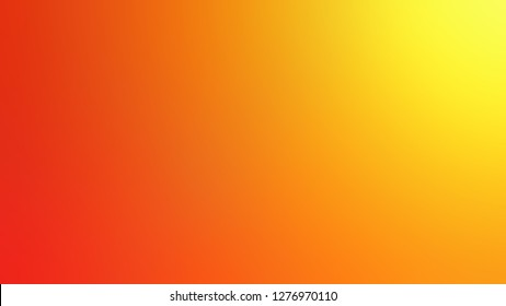 Gradient with Persimmon, Orange, Dark Tangerine color. Chaos of color and hue. Background with smooth change of colors and shades. Template for advertising your product.