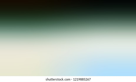 Gradient with Pewter, Green, Pale Turquoise, Blue color. Blank abstract blurred background with smooth color transition. Minimalism. Template with changing shades and with place for text.