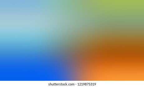 Gradient with Pewter, Green, Tahiti Gold, Orange color. Classic and awesome blurred background with smooth color transition.