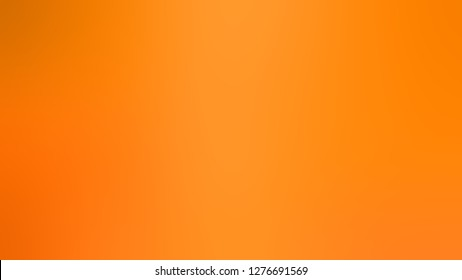 Gradient with Pumpkin, Orange color. Chaos of color and hue. Background with uniform smooth texture. Template for announcement or ad.