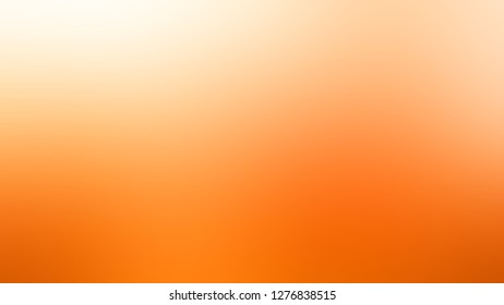 Gradient with Pumpkin, Orange, Macaroni And Cheese color. Chaos of color and hue. Background with smooth color degradation. Template and wallpaper on the desktop screen.