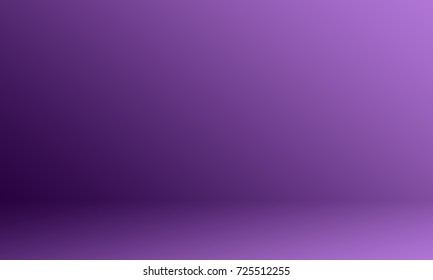 Gradient purple studio room background.