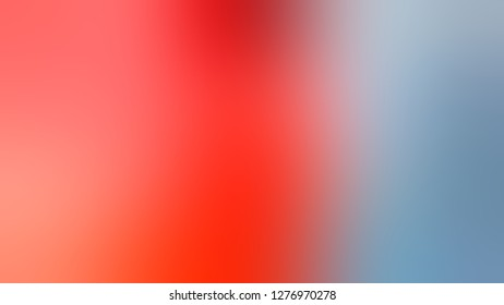 Gradient with Rock Blue, Bittersweet, Orange color. Beautiful raster blurred backdrop with smooth color degradation. Template for advertising your product.