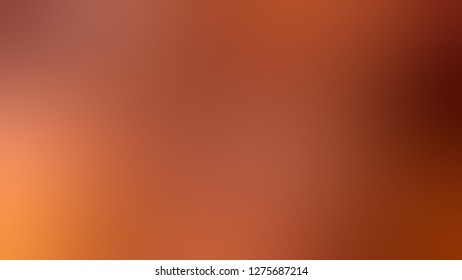 Gradient with Rock Spray, Brown, Ecstasy, Orange color. Gaussian drawing as a work of art. Background with smooth change of colors and shades. Template and wallpaper on the desktop PC or notebook.