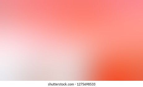 Gradient with Salmon, Red, Coral Candy, Pink color. Attractive and mystical blurred backdrop with smooth color degradation. Sample with blank space for text and advertising.