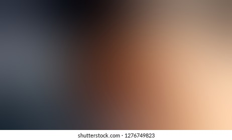 Gradient with Sandal, Brown, Arsenic, Grey color. Simplicity and purity. Blurred with defocused image. Model of blurred backdrop for banner or business presentation.