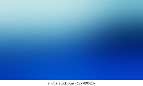 Gradient with Shakespeare, Blue, Cobalt color. Chaos of color and hue. Background with uniform smooth texture. Template for banner or document.