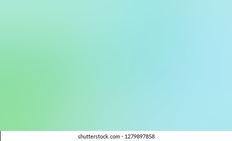 Gradient with Sinbad, Green, Blizzard Blue color. Ambiguous and foggy blurred background with defocused image. Sample with blank space for text and advertising.