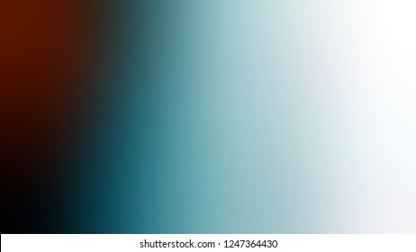 Gradient with Sinbad, Green, Chathams Blue color. Attractive and mystical blurred background with smooth change of colors and shades. Template for canvas or card.