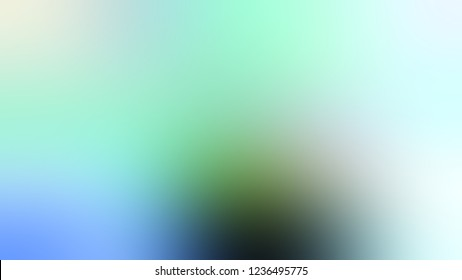 Gradient with Sinbad, Green, Light Cyan, Blue color. Blend modern defocused background as a work of art.
