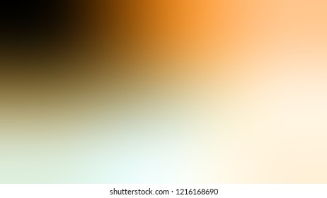 Gradient with Sisal, Brown, Peach-Orange, Orange color. Modern blurred background as a artwork.