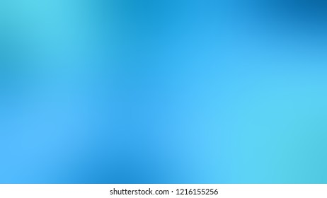 Gradient with Summer Sky, Blue color. Awesome abstract blurred background with smooth color transition. Minimalism.