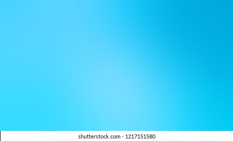 Gradient with Summer Sky, Blue color. Abstract blurred background with smooth color transition. Minimalism.
