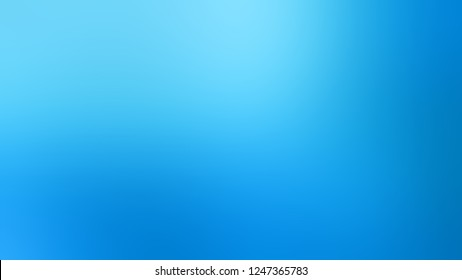 Gradient with Summer Sky, Blue color. Artistic and decorative blurred backdrop with smooth color degradation. Template and wallpaper to the screen of a mobile.