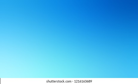 Gradient with Summer Sky, Blue, Columbia color. Simple blurred background with smooth transition of colors for banner.