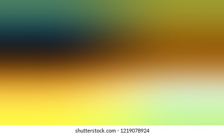 Gradient with Sundance, Brown, Kelp, Green color. Classic and awesome abstract blurred background with smooth color transition. Minimalism.