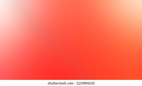 Gradient with Sunset Orange, Bittersweet color. Beautiful simple defocused and blurred background with the transition colors for advertising.