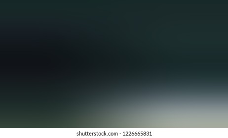 Gradient with Swamp, Green, Pewter color. Blank simple blurred background with smooth transition of shades.