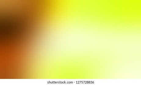 Gradient with Tidal, Yellow, Sundance, Brown color. Artistic and decorative blurred background with smooth change of colors and shades. Template for app or application.