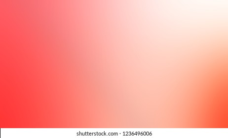 Gradient with Tuft Bush, Pink, Bittersweet, Orange color. Beautiful simple blurred background for banner or presentation.