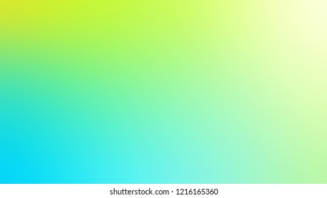 Gradient with Turquoise, Blue, Sulu, Green color. Awesome blurred backdrop with smooth color transition.