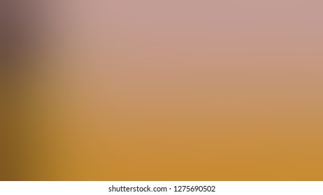Gradient with Tussock, Brown, Quicksand color. Simplicity and purity. Blurred with defocused image. Model of blurred backdrop for banner or business presentation.
