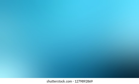 Gradient with Viking, Blue, Orient color. Gaussian drawing as a work of art. Blurred backdrop with smooth color degradation. Template for label design.