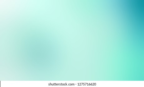 Gradient with Water Leaf, Green, Aquamarine color. Chaos of color and hue. Blurred backdrop with smooth color degradation. Template for magazine or book layout.